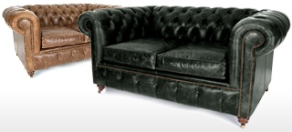 Small Leather Chesterfield Sofas