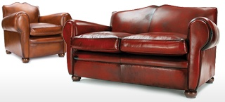 French Style Leather Sofas