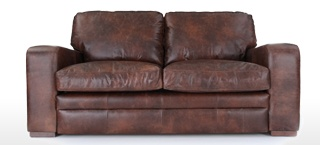 Charmant Square Arm Leather Sofas