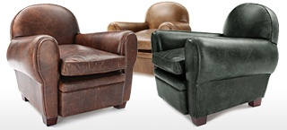 Vintage Leather Club & Wing Chairs