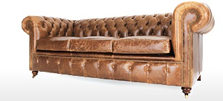 Leather Chesterfields Sofa Beds
