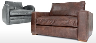 Leather Snuggler Chairs