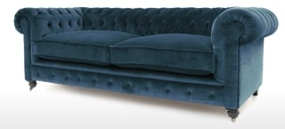Velvet Button Back Sofas