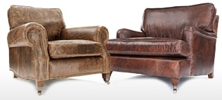 French Style Leather Chairs