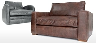 Leather Snuggler Chair