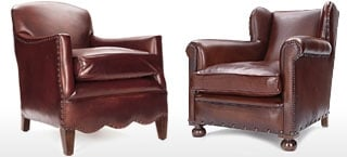 Chocolate Leather Club & Wing Chairs