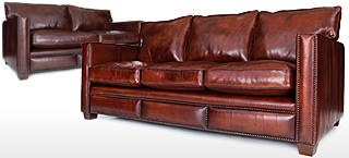 Spitalfield Leather Sofas
