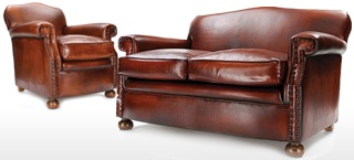 Eva Small Leather Sofa