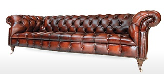 Grizzled Skipper Leather Chesterfield Sofas