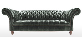 The Graduate Buttoned Base Leather Chesterfield Sofas