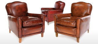 Poppy Leather Club Chair