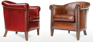 Hoots Leather Tub Chair