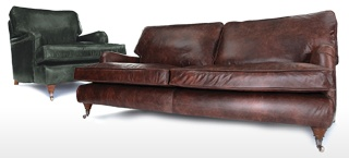 Traditional Leather Sofas  Sale
