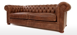 Alfie Leather Chesterfield Sofa