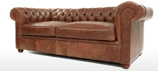 Chester Leather Chesterfield Sofa