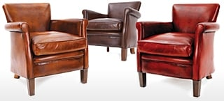 Birdie Leather Club Chairs