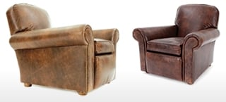 Hector Leather Club Chairs