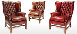 Eton Leather Wing Chairs