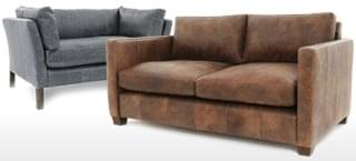 Large 2 Seater Leather Chesterfield Sofas