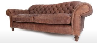St George Leather Chesterfield Sofas