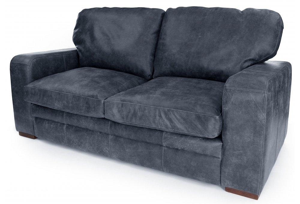 Urbanite   Rustic Leather 3 Seater Sofa Bed From Old Boot ...