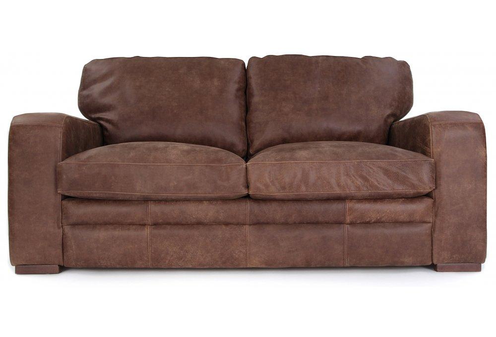 Urbanite Rustic Leather 3 Seater Sofa, Rustic Leather Furniture