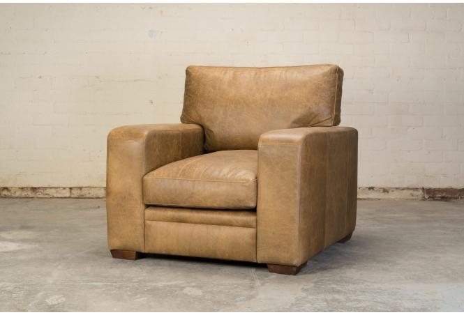 Urbanite Armchair in Vintage Tan Leather