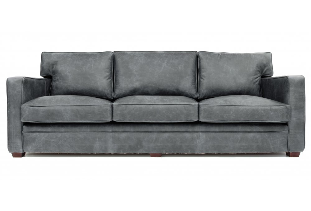 Extra Large Vintage Leather Sofa Bed