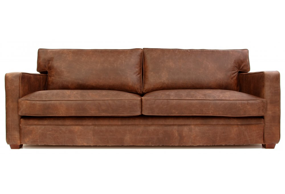 Whitechapel 4 Seat Vintage Leather Sofa